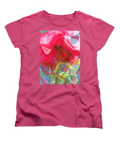 Women's T-Shirt (Standard Cut) featuring the photograph Just A Wild And Crazy Rose by Brooks Garten Hauschild
