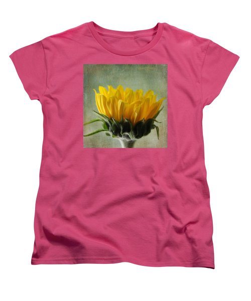 Just Opening Sunflower Women's T-Shirt (Standard Cut) by Denyse Duhaime