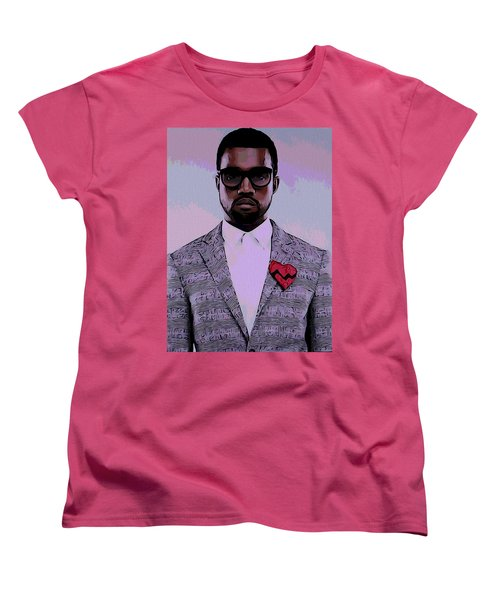 Kanye West Poster Women's T-Shirt (Standard Cut) by Dan Sproul