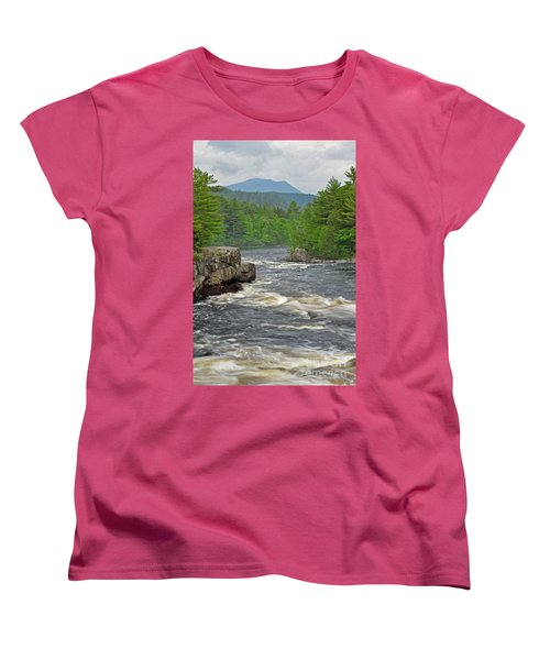 Katahdin And Penobscot River Women's T-Shirt (Standard Cut) by Glenn Gordon