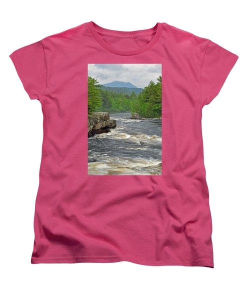 Katahdin And Penobscot River Women's T-Shirt (Standard Cut)