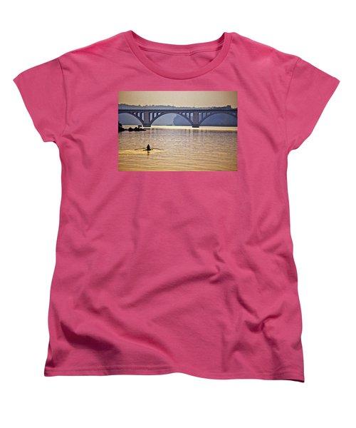 Key Bridge Rower Women's T-Shirt (Standard Cut) by Stuart Litoff