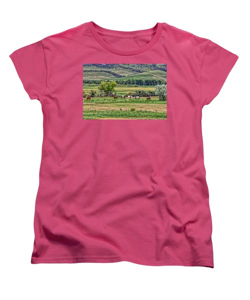K G Ranch Women's T-Shirt (Standard Cut) by Michael Pickett