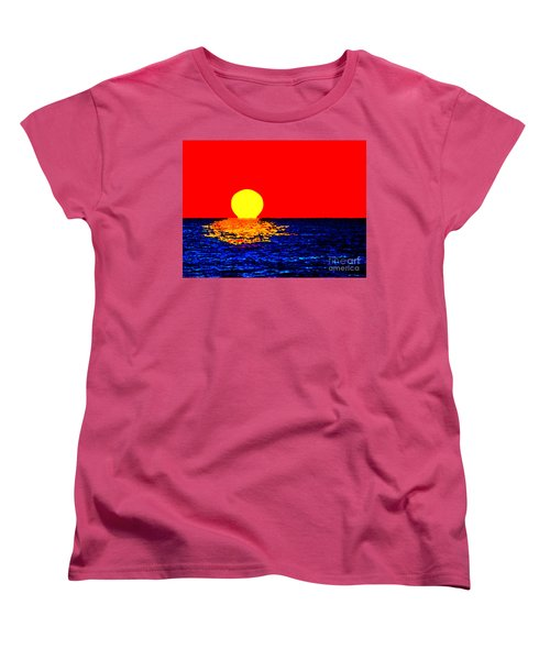 Kona Sunset Pop Art Women's T-Shirt (Standard Cut) by David Lawson