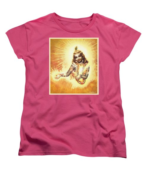 Krishna Vision In The Clouds Women's T-Shirt (Standard Cut) by Ananda Vdovic