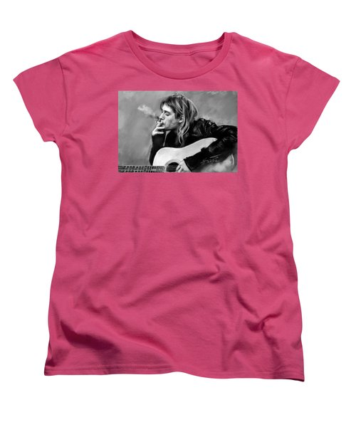Kurt Cobain Guitar  Women's T-Shirt (Standard Cut) by Viola El