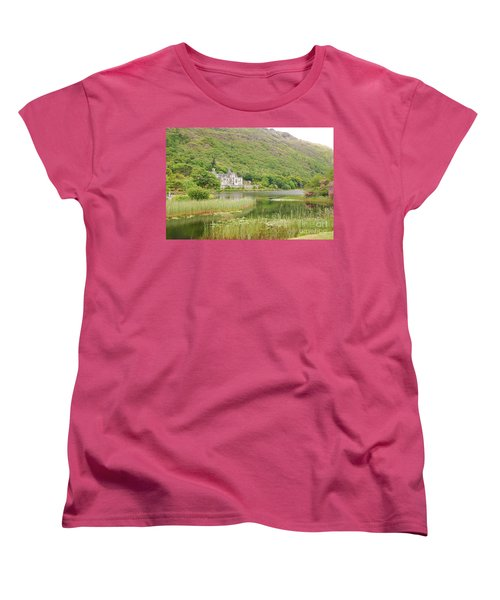 Women's T-Shirt (Standard Cut) featuring the photograph Kylemore Abbey 1 by Mary Carol Story