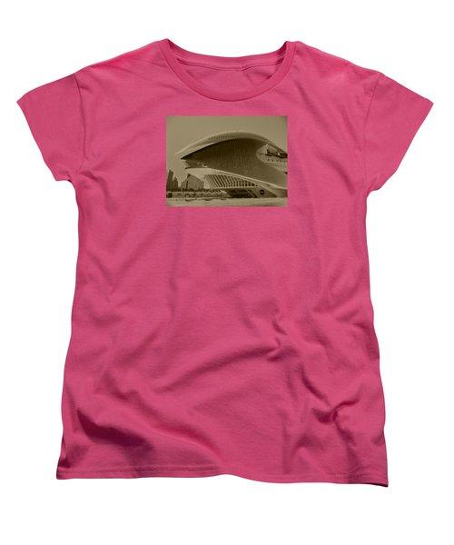 Women's T-Shirt (Standard Cut) featuring the photograph L' Hemisferic - Valencia by Juergen Weiss