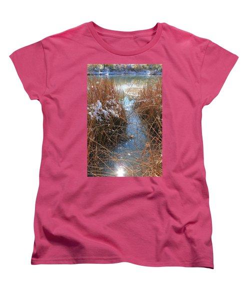 Women's T-Shirt (Standard Cut) featuring the photograph Lake Glitter by Diane Alexander