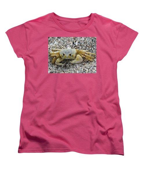 Women's T-Shirt (Standard Cut) featuring the photograph Ghost Crab by Cynthia Guinn