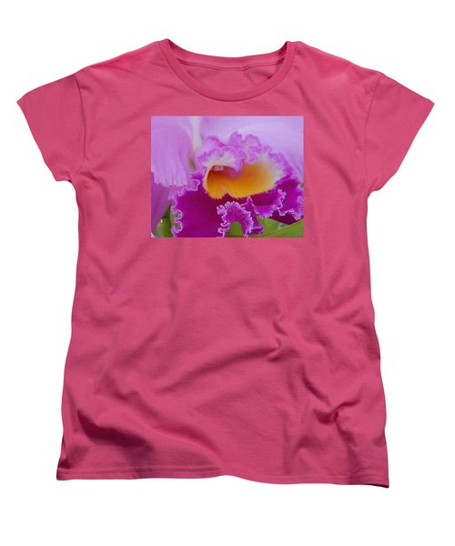 Women's T-Shirt (Standard Cut) featuring the photograph Lavender Orchid by Aimee L Maher Photography and Art Visit ALMGallerydotcom