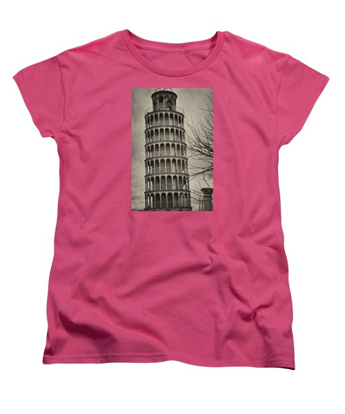 Women's T-Shirt (Standard Cut) featuring the photograph Leaning Tower by Miguel Winterpacht