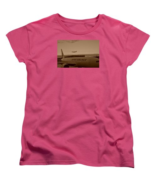 Leaving Japan Women's T-Shirt (Standard Cut) by Miguel Winterpacht