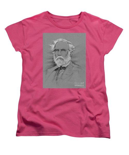 Lee's Battle-blood Up Women's T-Shirt (Standard Cut) by Scott and Dixie Wiley
