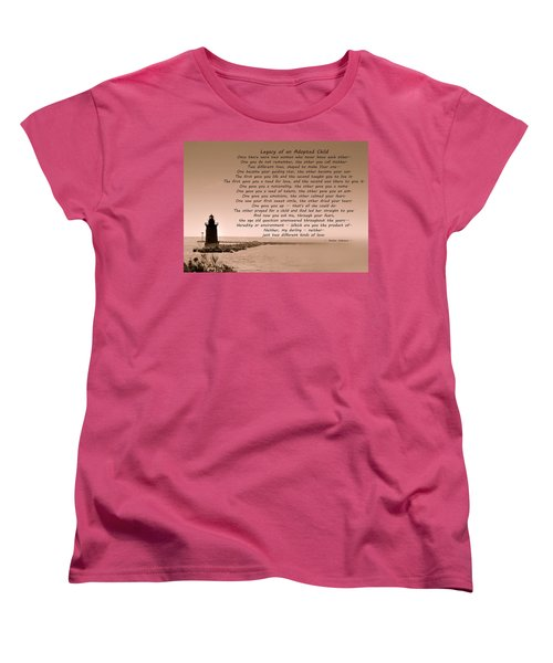 Legacy Of An Adopted Child Women's T-Shirt (Standard Cut) by Trish Tritz