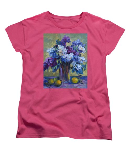 Lemons And Lilacs Women's T-Shirt (Standard Cut) by Diane McClary