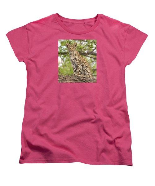 Leopard Cub Gaze Women's T-Shirt (Standard Cut) by Tom Wurl