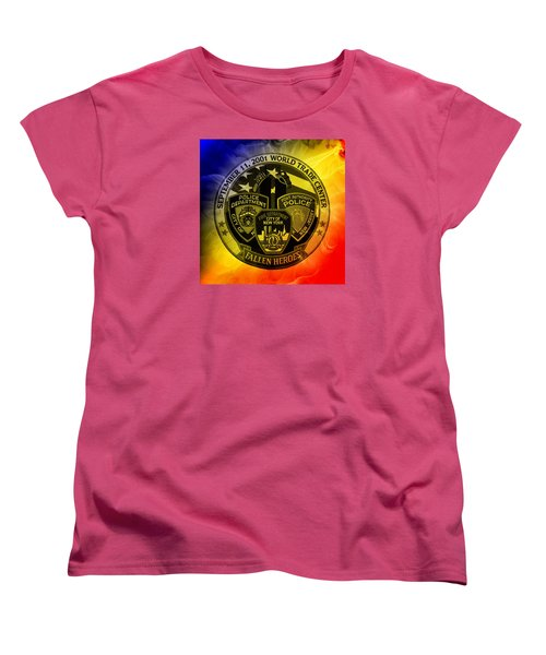 Women's T-Shirt (Standard Cut) featuring the mixed media Least We Forget 2 by Nick Kloepping