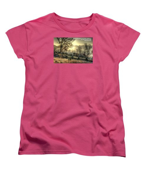 Let The Morning Bring Me Word Of Your Unfailing Love - Psalm 143.8 Women's T-Shirt (Standard Cut) by Michael Mazaika