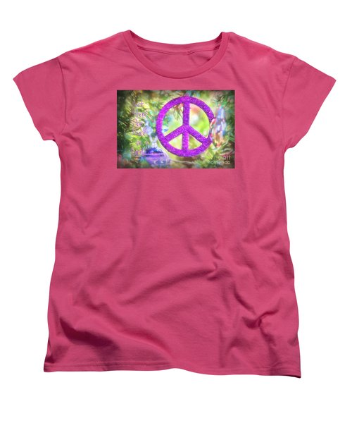 Let There Be Peace On Earth Women's T-Shirt (Standard Cut) by Peggy Hughes
