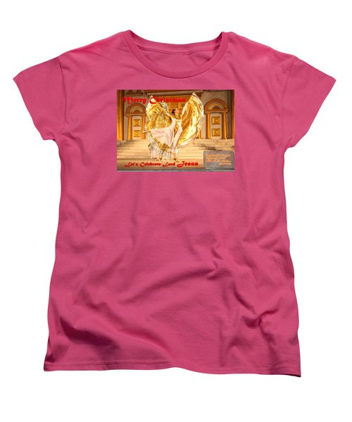 Let's Celebrate Lord Jesus And Dance Women's T-Shirt (Standard Cut) by Terry Wallace