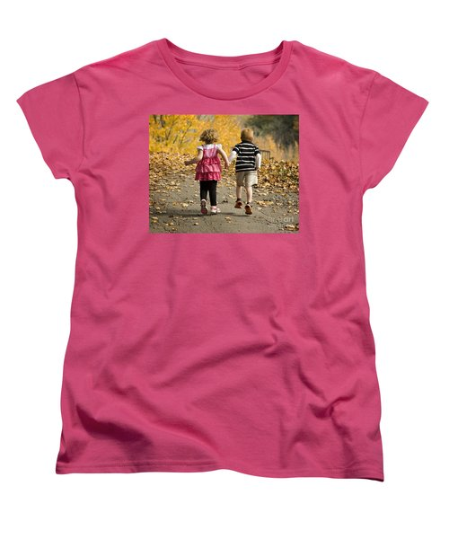 Women's T-Shirt (Standard Cut) featuring the photograph Let's Get Out Of Here by Carol Lynn Coronios