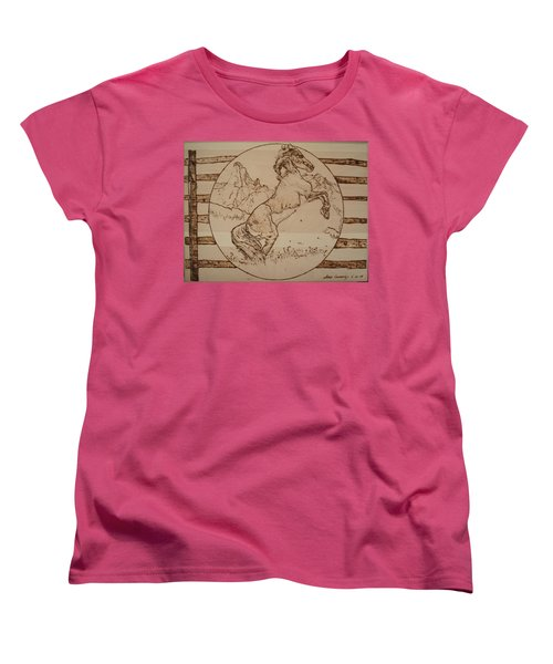 Wild Horse Women's T-Shirt (Standard Cut) by Sean Connolly
