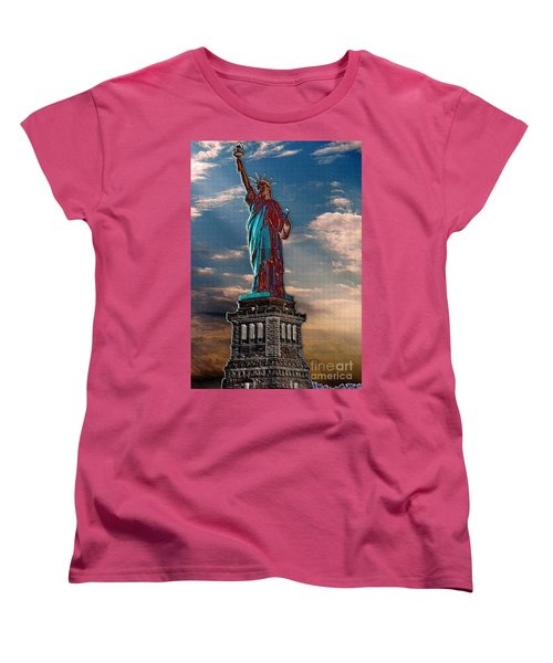 Women's T-Shirt (Standard Cut) featuring the photograph Liberty For All by Luther Fine Art