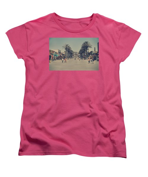 Life In A Beach Town Women's T-Shirt (Standard Cut) by Laurie Search