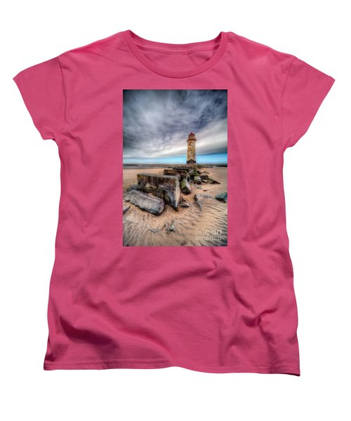 Lighthouse At Talacre  Women's T-Shirt (Standard Cut) by Adrian Evans