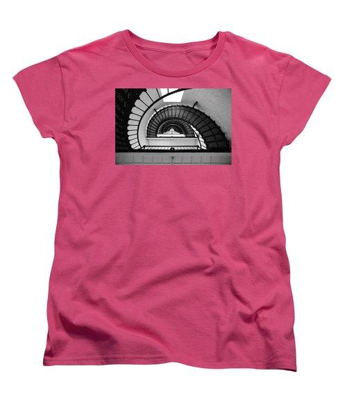 Lighthouse Spiral Women's T-Shirt (Standard Cut) by Beverly Stapleton
