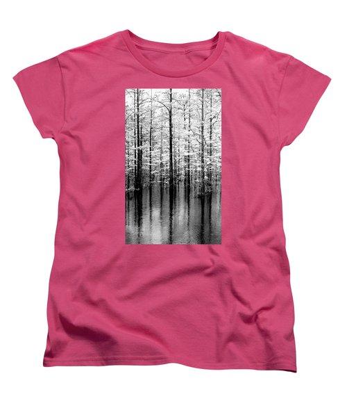 Lightning On The Wetlands Women's T-Shirt (Standard Cut) by Faith Williams