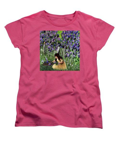 Lillian's Lilacs Women's T-Shirt (Standard Cut) by Jennifer Lake