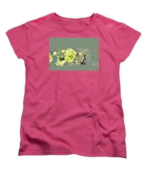 Women's T-Shirt (Standard Cut) featuring the digital art Lily Pads - Deconstructed by Lauren Radke