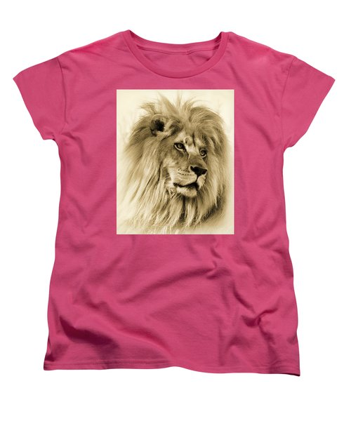 Lion Women's T-Shirt (Standard Cut) by Swank Photography