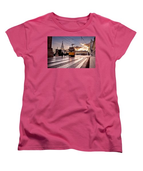 Lisbon Light Women's T-Shirt (Standard Cut) by Jorge Maia