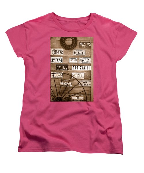 Liscensed Shed Wall Women's T-Shirt (Standard Cut) by Holly Blunkall