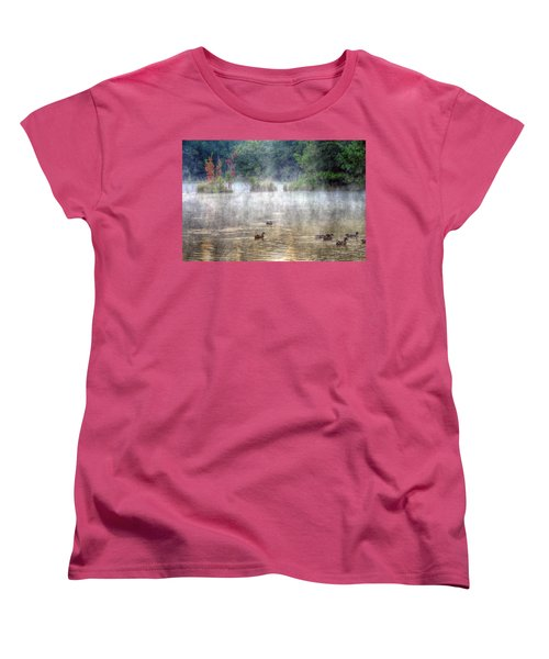 Women's T-Shirt (Standard Cut) featuring the photograph Little Bit Of Fall by Charlotte Schafer