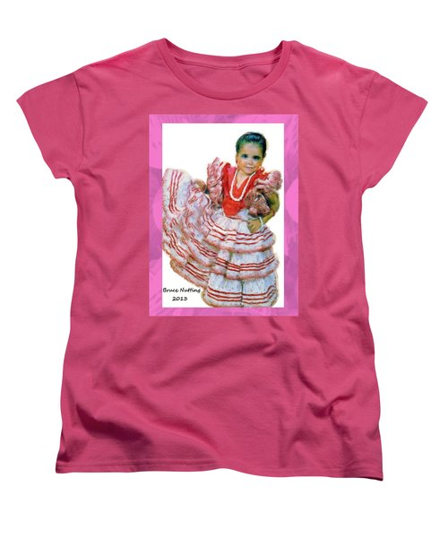 Women's T-Shirt (Standard Cut) featuring the painting Little Lidia by Bruce Nutting