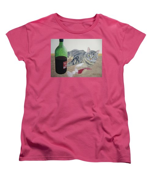 Little Ol' Wine Drinker Me Women's T-Shirt (Standard Cut) by Norm Starks