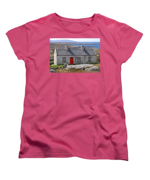 Women's T-Shirt (Standard Cut) featuring the photograph Little Red Door II by Suzanne Oesterling
