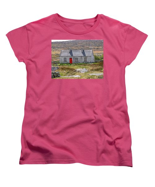 Women's T-Shirt (Standard Cut) featuring the photograph Little Red Door by Suzanne Oesterling