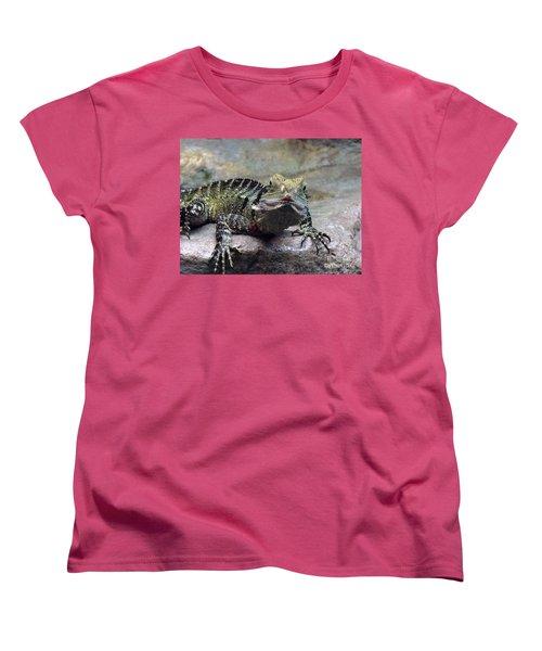 Women's T-Shirt (Standard Cut) featuring the photograph Lizzie's Gaze by Lingfai Leung