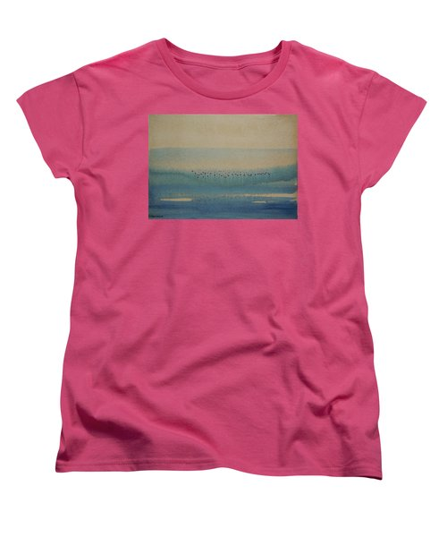 Women's T-Shirt (Standard Cut) featuring the painting Loch Of My Heart by Mini Arora