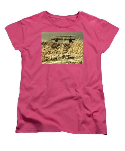 Lonely Bench Women's T-Shirt (Standard Cut) by Mike Santis