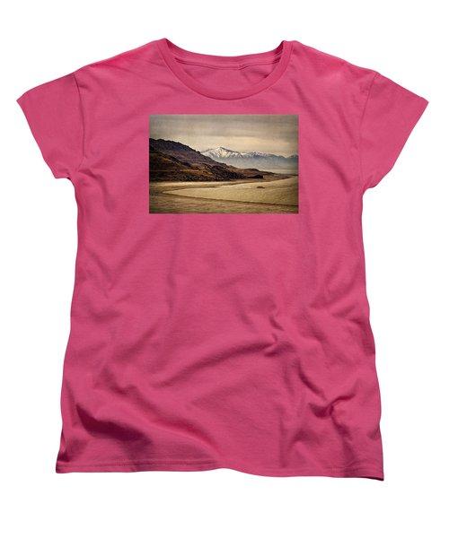 Lonesome Land Women's T-Shirt (Standard Cut) by Priscilla Burgers
