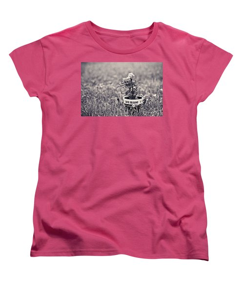 Women's T-Shirt (Standard Cut) featuring the photograph Love Blooms by Sara Frank
