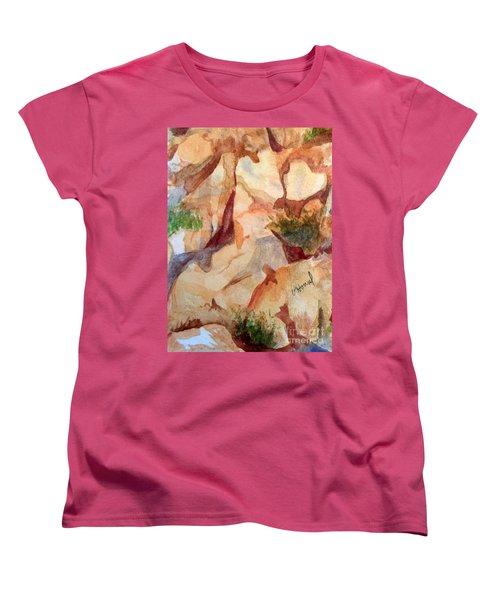 Love In The Rocks Medjugorje 2 Women's T-Shirt (Standard Cut) by Vicki  Housel