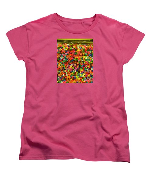 Macaroni Beads Women's T-Shirt (Standard Cut) by Ranjini Kandasamy