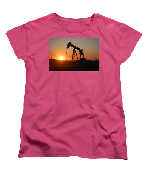 Making Tea At Sunset 2 Women's T-Shirt (Standard Cut) by Leticia Latocki